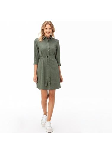 Lacoste Kadın Truvakar Kollu Elbise EF2019.19Y Yeşil